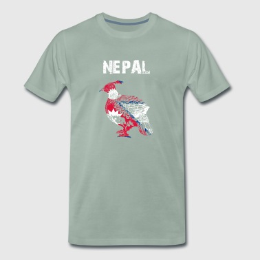 Nation design Nepal Monal GMD - Herre premium T-shirt