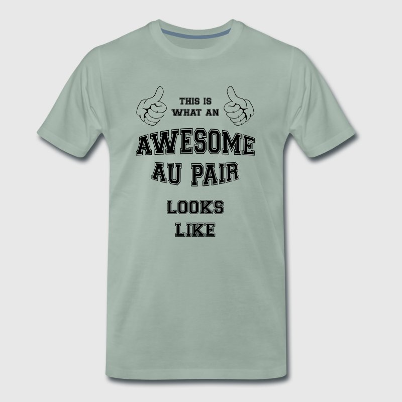 AWESOME AU PAIR Cool Gifts for Super AuPair, Nanny - Men's Premium T-Shirt