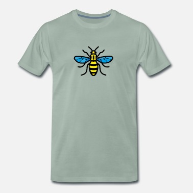 Madchester Manchester Bee (Colour) - Men's Premium T-Shirt