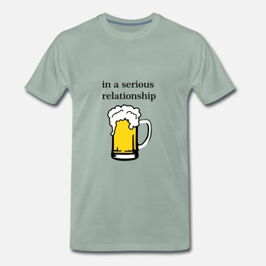 I Love Tirol Beer - in a serious relationship with beer - Men's Premium T-Shirt