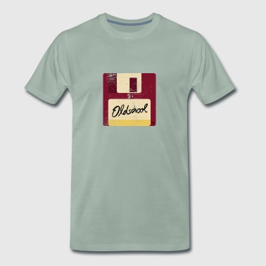 Old School Floppy Disk - Herre premium T-shirt