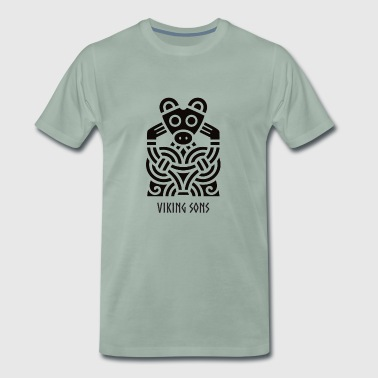 Celtic / Nordic - Vikings - Borre Style - Men's Premium T-Shirt
