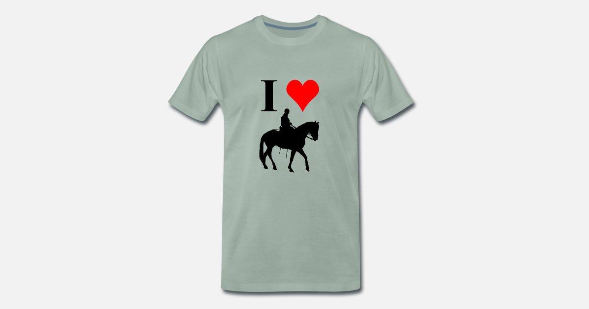 Équitation j/' aime mon cheval T-shirt LOVE Cœur équitation T-shirt unisexe S-XXL