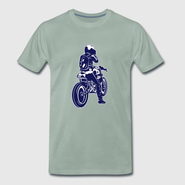 Motorcycle Trial motorcycle - Men's Premium T-Shirt