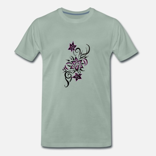 Tatouage Fleur Art T Shirt Premium Homme Spreadshirt