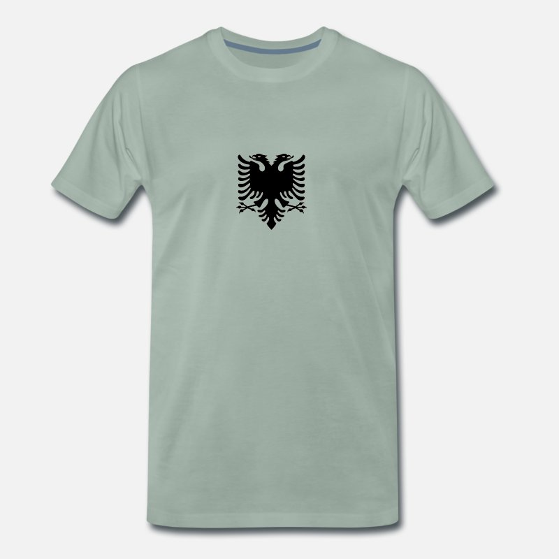Albania T-Shirts - shqiponja - Men's Premium T-Shirt steel green