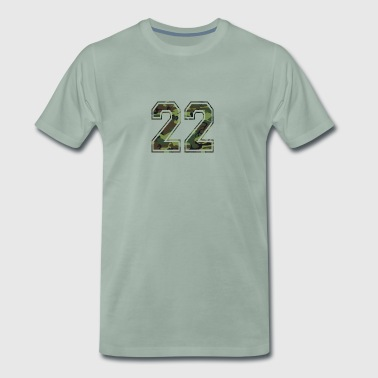 Numbers Camouflage Paintball Bundeswehr 22 - Men's Premium T-Shirt