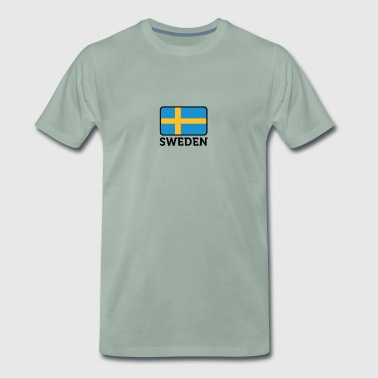 Sveriges nationale flag - Herre premium T-shirt