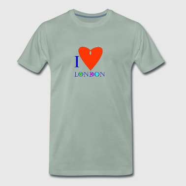 I Love London B - Men's Premium T-Shirt