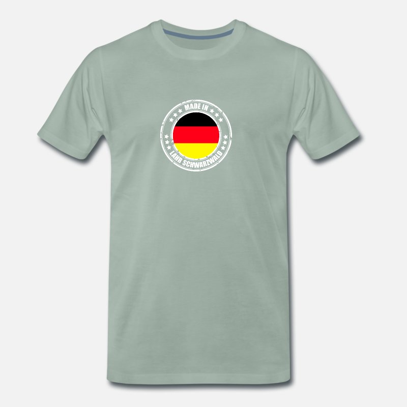 IN T-Shirts - LAHR SCHWARZWALD - Men's Premium T-Shirt steel green