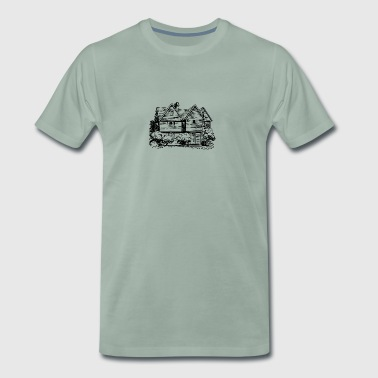 hus Illustration - Premium-T-shirt herr