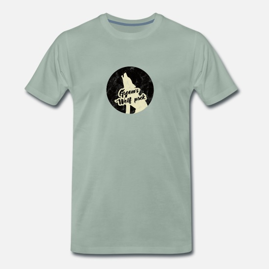 Wolfpack T-Shirts - Bachelor party / JGA / Groom's Wolfpack - Men's Premium T-Shirt steel green