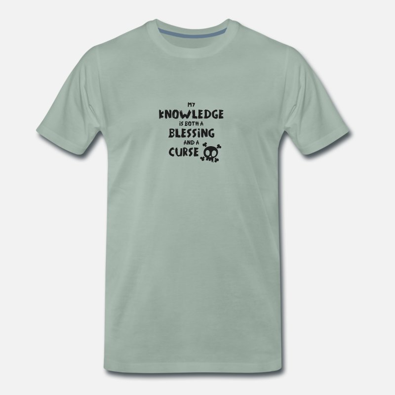Blessing T-Shirts - Blessing And Curse - Men's Premium T-Shirt steel green