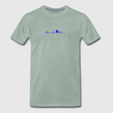 ECG HEARTBEAT - Men's Premium T-Shirt