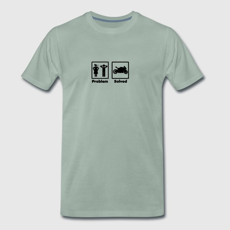 problem solved motorcycle bike - Men's Premium T-Shirt