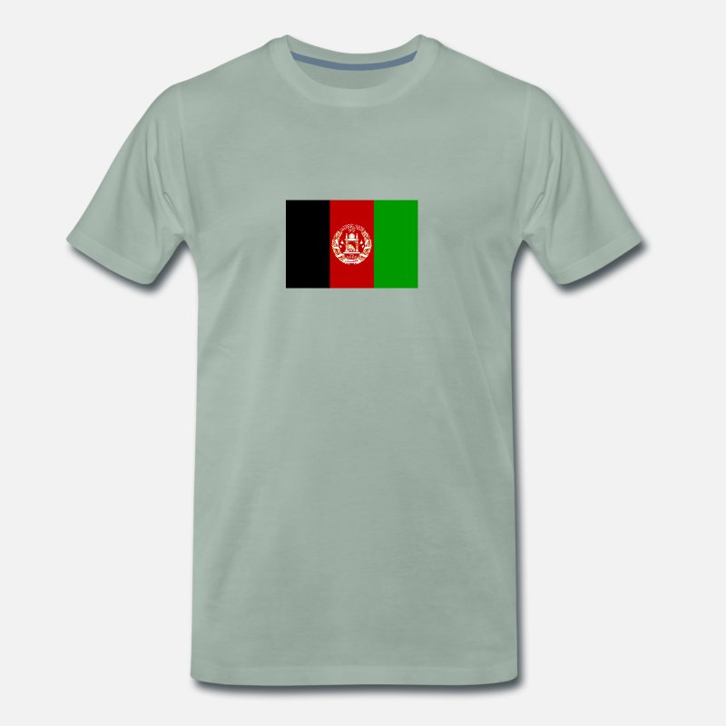 Afghanistan T-Shirts - Afghanistan Flag - Men's Premium T-Shirt steel green