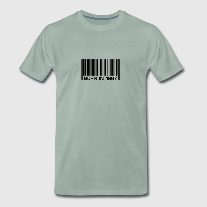 born in 1967 50th birthday 50th birthday barcode - Men's Premium T-Shirt