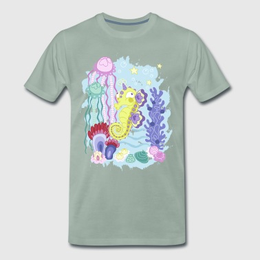 The Majestic Magic Seahorse Corner - Men's Premium T-Shirt