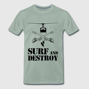 SURF AND DESTROY 2 - Camiseta premium hombre