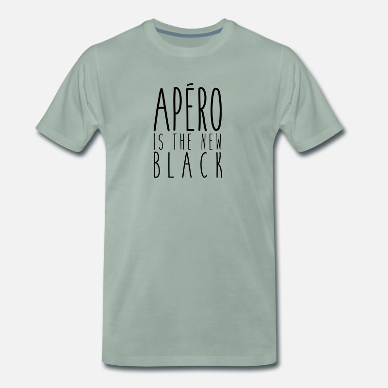 Ricard T-shirts - Apéro is the new black - T-shirt premium Homme vert-de-gris