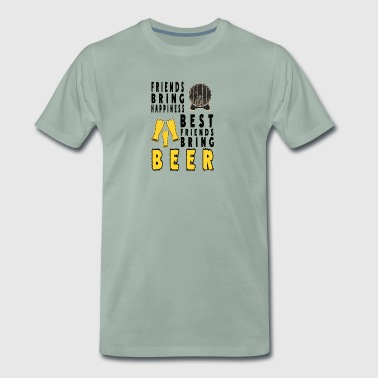 beer Best frind brings beer - Men's Premium T-Shirt