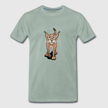 daring lynx casually cool wildcat gift - Men's Premium T-Shirt