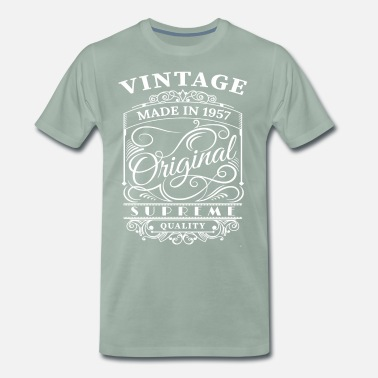 It Took Me 60 Years To Look This Good Vintage Made in 1957 Original - Men's Premium T-Shirt