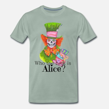 Wonderland Mad Eddy - Men's Premium T-Shirt
