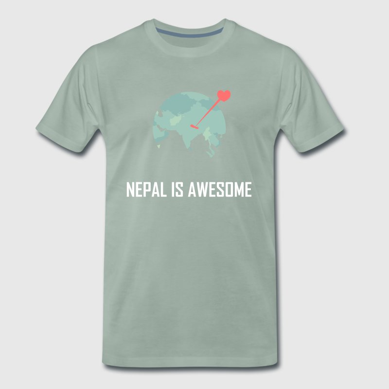 Nepal is awesome - Men's Premium T-Shirt
