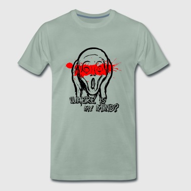 The Scream - Where is my mind? - Men's Premium T-Shirt