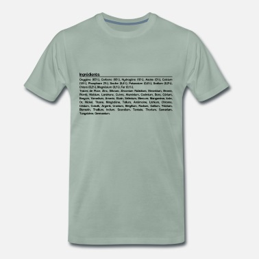 Corps Humain Ingrédients corps humain - T-shirt Premium Homme