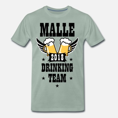 Mallorca Party 25 Malle 2018 Drinking Team Beer Bier Wings - Männer Premium T-Shirt
