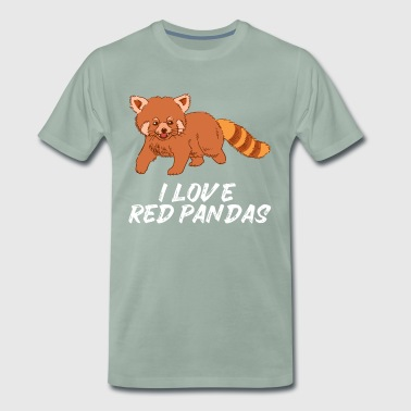 Sweet Cat Bear Red Panda Red Panda - Mannen Premium T-shirt