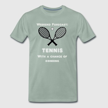 Weekend voorspelling. Tennis - Mannen Premium T-shirt