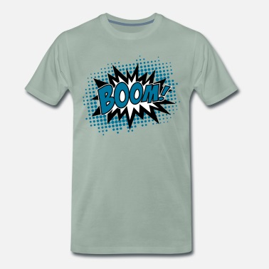 BOOM!, Comic Style Speech Bubble Bang, Kapow, Pow - Camiseta premium hombre
