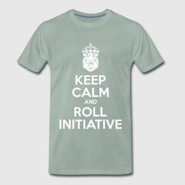 Keep calm and roll Initiative - Mannen Premium T-shirt