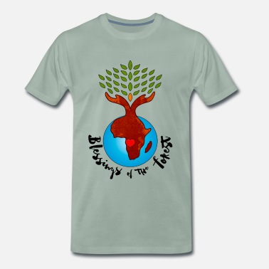 Permaculture Blessings Of The Forest - Men's Premium T-Shirt