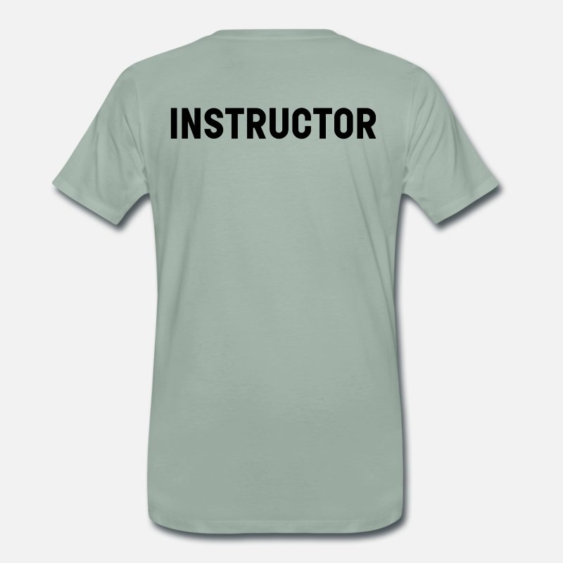 Instructor T-Shirts - instructeur - Mannen premium T-shirt grijsgroen