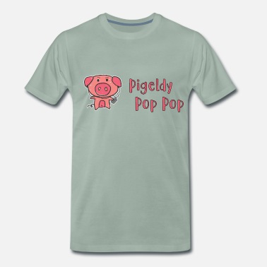 Cartoon-schwein Pigeldy Pop Pop - Männer Premium T-Shirt