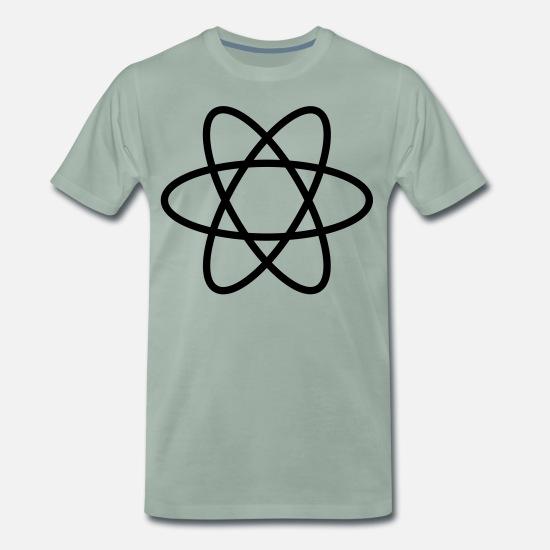 Atom symbol, natur, jord, verden, planet, tegn Premium T
