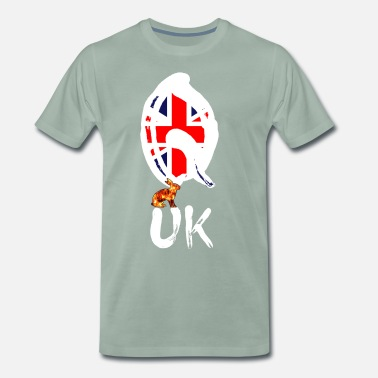Wallstreet UK Q - Premium-T-shirt herr