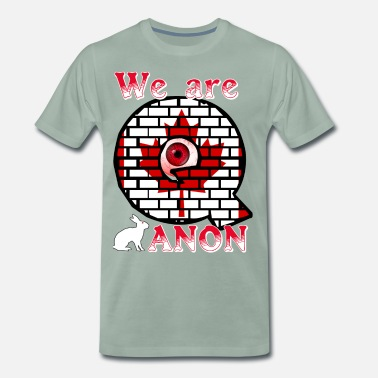 Secret Agent We are ANON Canada - Men's Premium T-Shirt