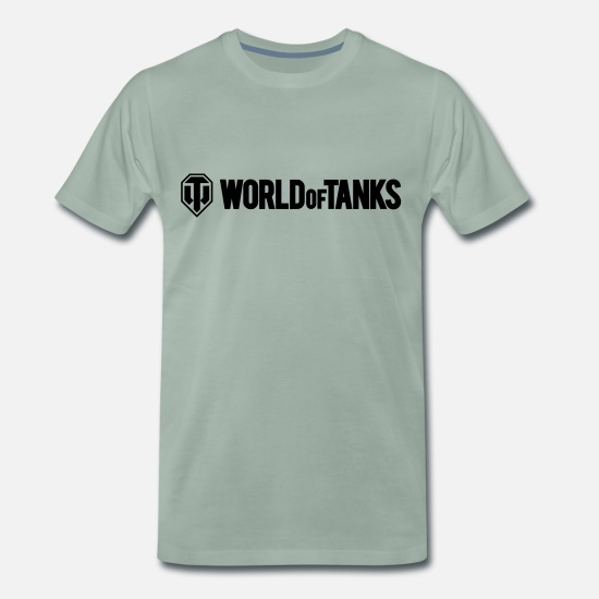 World Of Tanks T-Shirts - World of Tanks Vector - Men's Premium T-Shirt steel green
