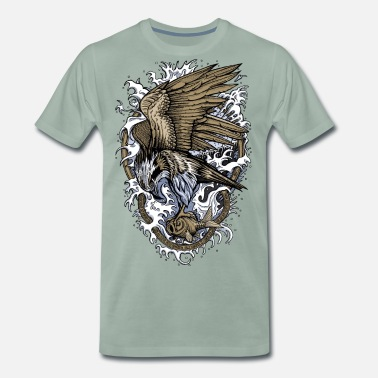 Animal Collection V2 Osprey - Men's Premium T-Shirt
