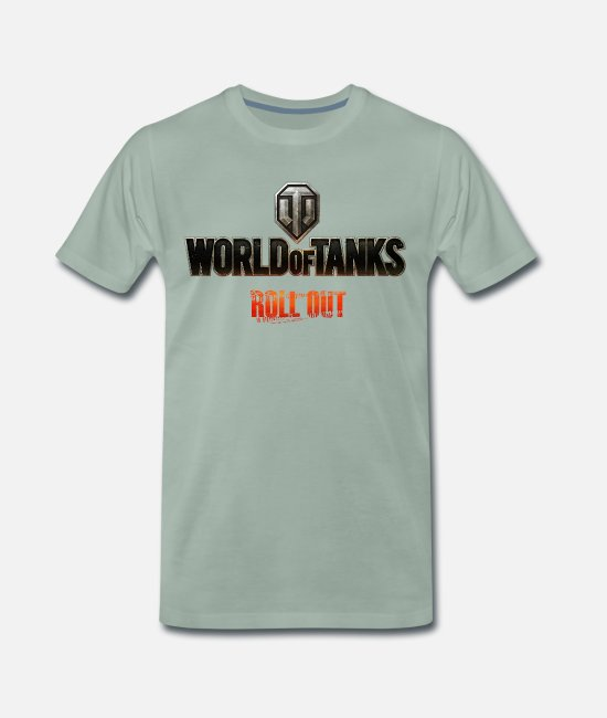 Wargaming Camisetas - World of Tanks Homme tee shirt manches longues - Camiseta premium hombre verde grisáceo