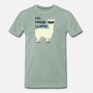 No Prob-llama - funny cartoon design - Men's Premium T-Shirt