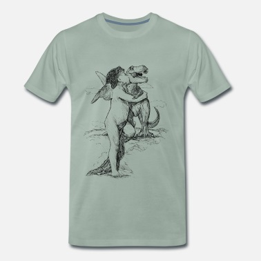 Black And White Collection Dinolove - Männer Premium T-Shirt