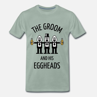 2754f715a The Groom And His Eggheads (Stag Party / POS / 3C) - Men&#. Men's Premium T- Shirt