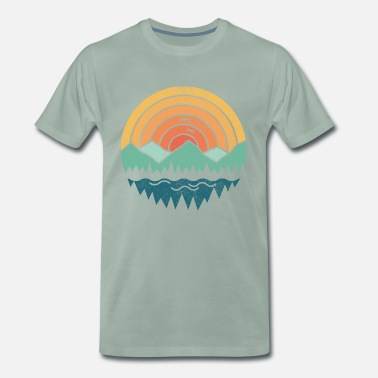 Vintage Vintage Mountains - Premium T-shirt herr
