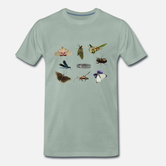 Insect T-Shirts - insects - Men's Premium T-Shirt steel green